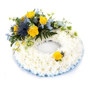 Wreath Yellow, Blue & White