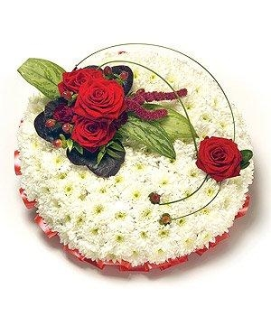 Red and White Posy.