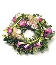 Pink Calla Lily Wreath.