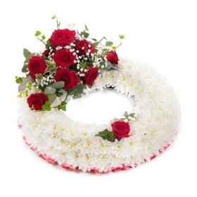 White & Red Wreath