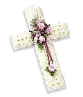 Small Cross Pink & White
